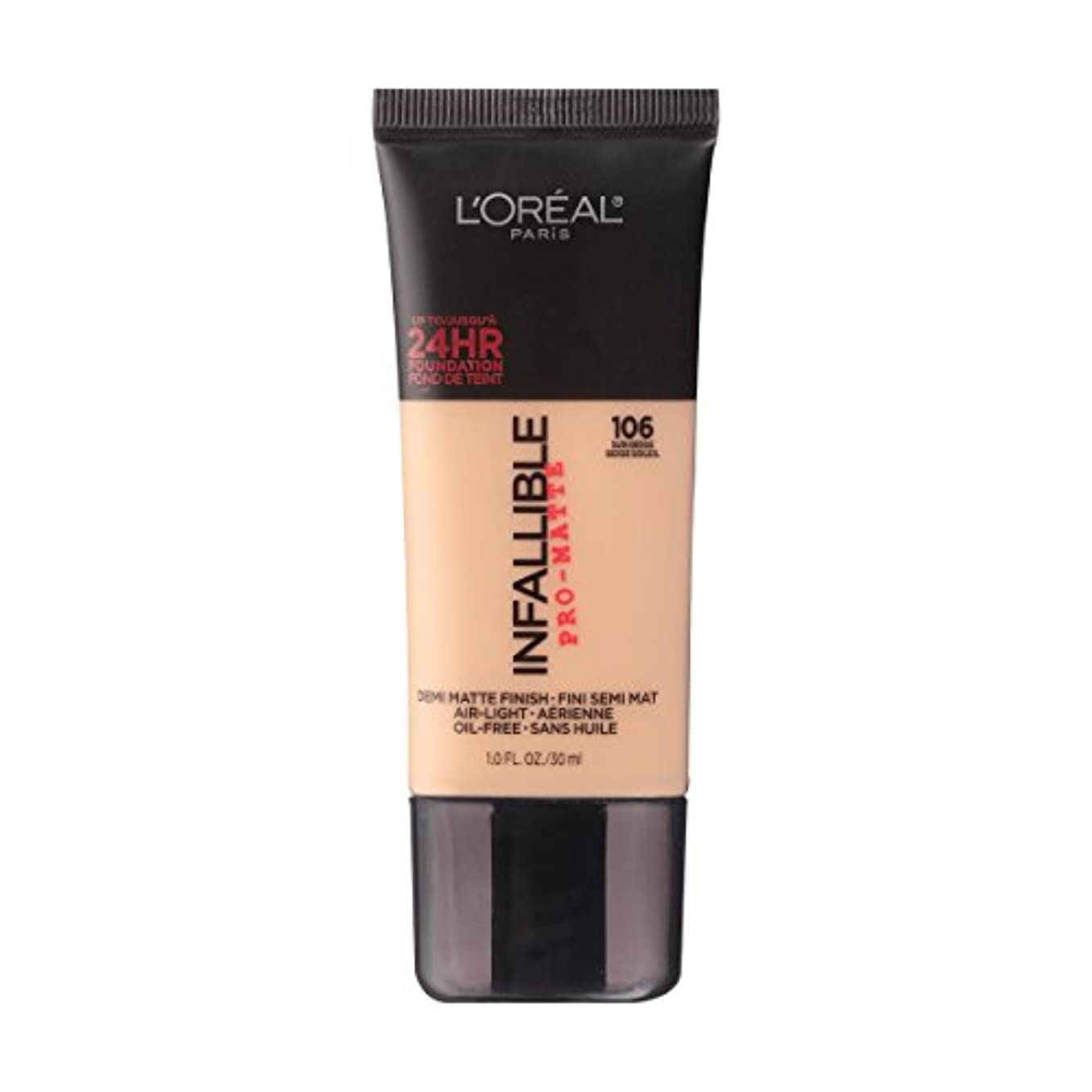 対応薄い居間(6 Pack) L'OREAL Infallible Pro-Matte Foundation - Sun Beige (並行輸入品)
