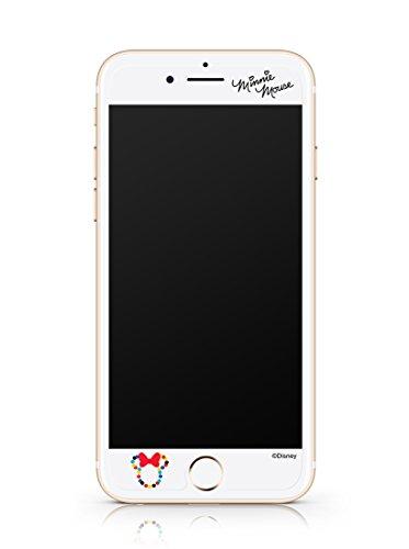 Disney ART TEMPERED GLASS ディズニーアート強化ガラス ミッキーマウス&フレンズ(キャンディーミニー)/アイフォンiPhoneスマホ保護ガラス、硬度9Hキズスクラッチ防止、0.33mm、2.5Dラウンドソフトエッジ、強化ガラスへ直接キャラクター印刷、フルカラー2880dpi印刷、高鮮明、快適パーフェクトタッチ、飛散防止、指紋防止、水はじきコーティング (iPhone 7Plus)