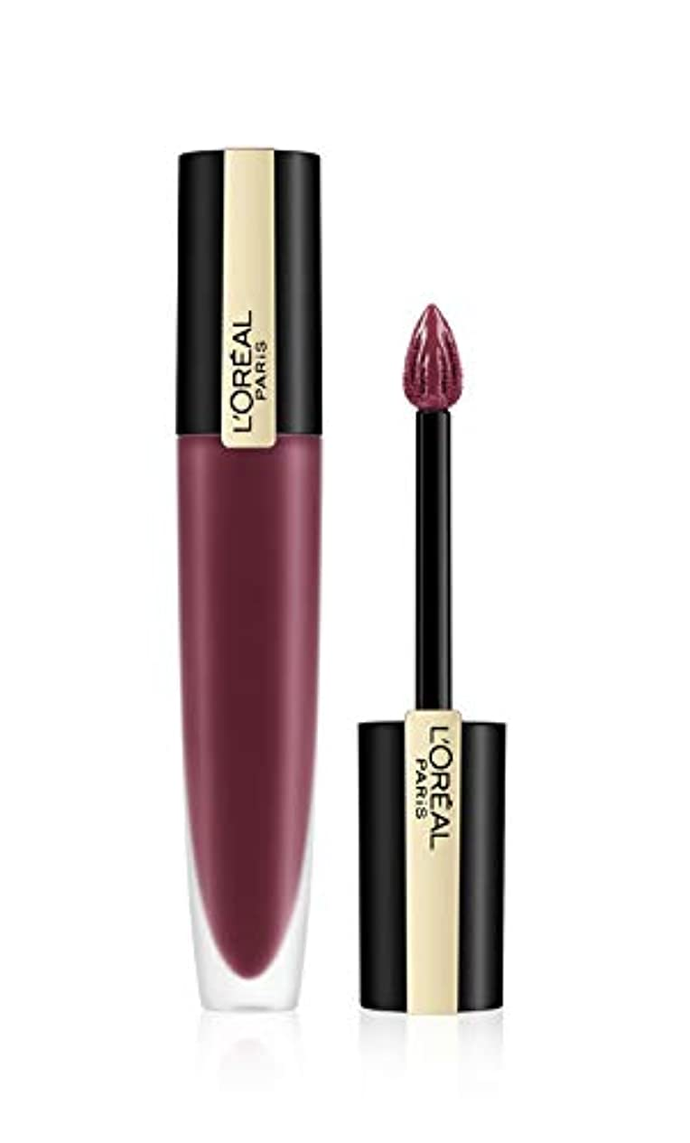 ページ基本的な突進L'Oreal Paris Rouge Signature Matte Liquid Lipstick,103 I Enjoy, 7g