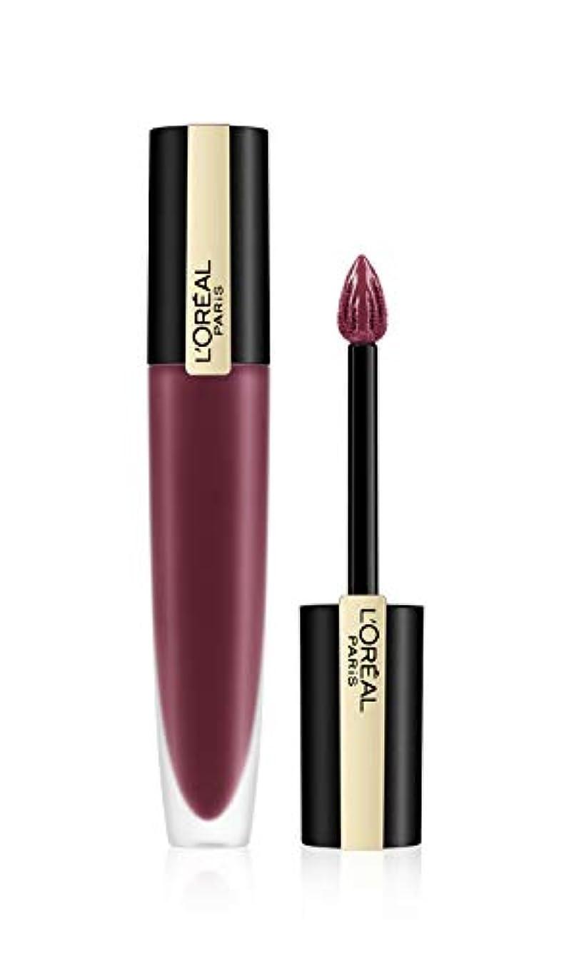 革新当社満了L'Oreal Paris Rouge Signature Matte Liquid Lipstick,103 I Enjoy, 7g