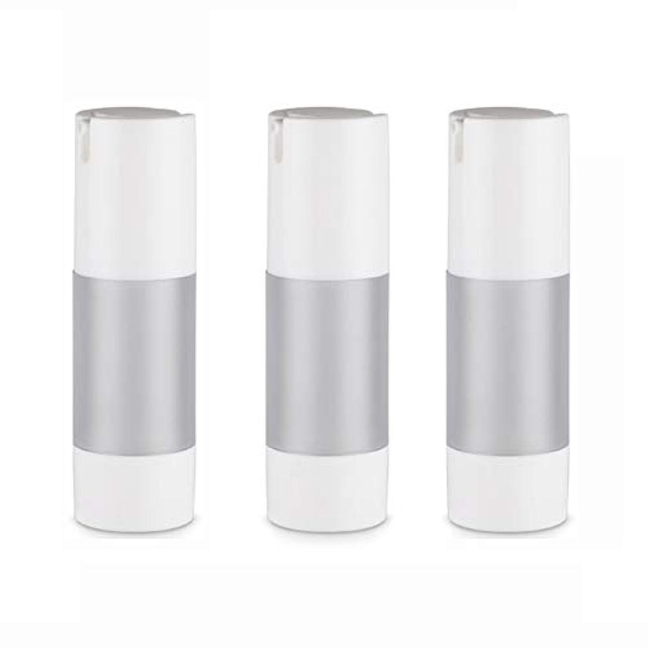ランチキャリッジムス小分けボトル 乳液 3本セット ディスペンサー ボトル シャンプー ボディーソープ ポンプボトル 真空 ボトル 詰替用ボトル 旅行用 (乳液30ml)