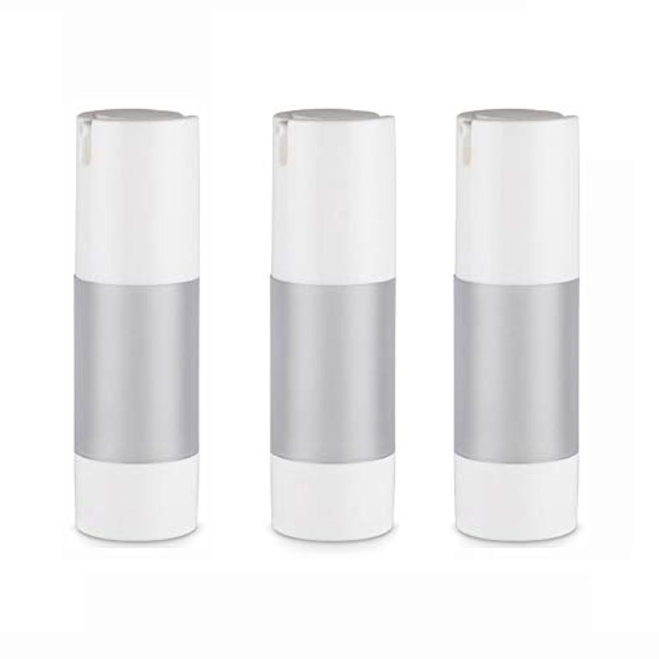 影のある大量上院議員小分けボトル 乳液 3本セット ディスペンサー ボトル シャンプー ボディーソープ ポンプボトル 真空 ボトル 詰替用ボトル 旅行用 (乳液30ml)