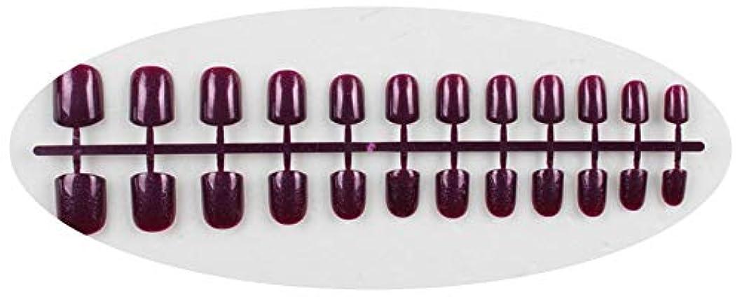 切り離す起きているバーキャンディーカラー24PCS /セット完成した偽爪、短い段落フルネイルチップパッチ、DIYアートツール,GD12