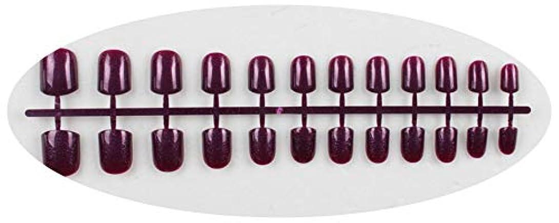 蚊評価可能独占キャンディーカラー24PCS /セット完成した偽爪、短い段落フルネイルチップパッチ、DIYアートツール,GD12
