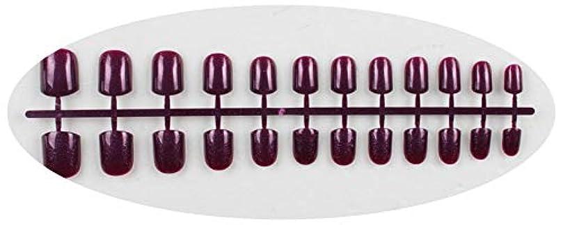 がっかりする再び五キャンディーカラー24PCS /セット完成した偽爪、短い段落フルネイルチップパッチ、DIYアートツール,GD12
