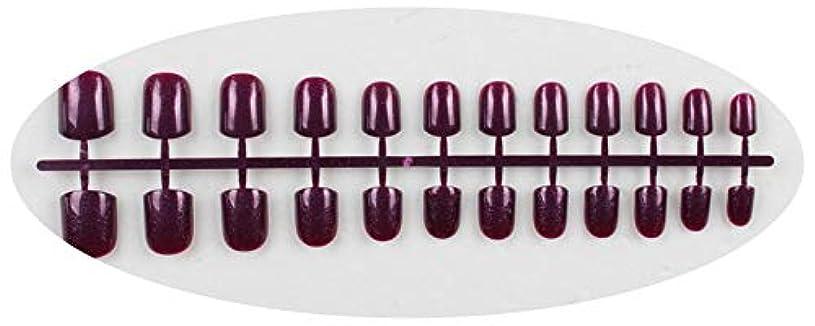 熱望する中間パキスタンキャンディーカラー24PCS /セット完成した偽爪、短い段落フルネイルチップパッチ、DIYアートツール,GD12