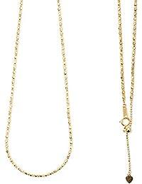 18金 イエローゴールド ミラーボール デザイン ネックレス K18YG k18ネックレス 約45cm (金具を含む本体約40cm +スライド式長さ調節 アジャスターチェーン約5cm) 18金ネックレス