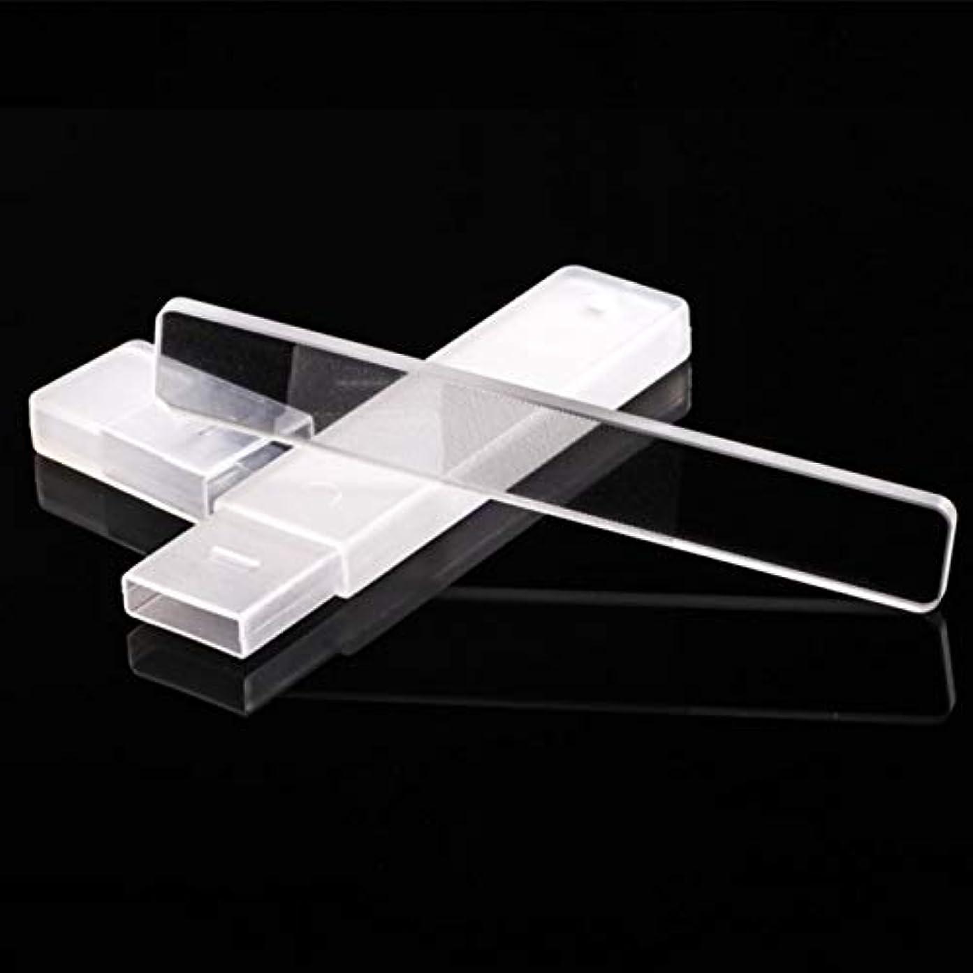 硫黄反動突破口Wadachikis 機能性高品質ネイルファイルマニキュアデバイスツール耐久クリスタルガラスネイルアートツール(None Regular mirror)
