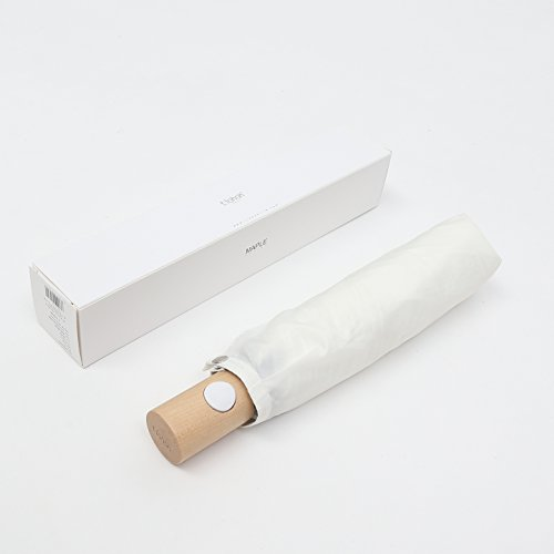 tiohoh-楓の木 折りたたみ傘 レディース 自動開閉 晴雨兼用 UVカット 撥水 傘 レディース おしゃれ 軽量 耐風 携帯便利 親骨53.5cm ホワイト