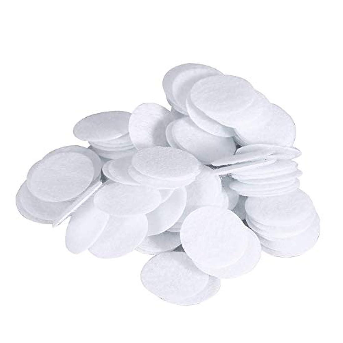 恥ずかしさ雪だるま腐食する綿フィルターパッド にきび除去美容機用 100個 コットン 20mm