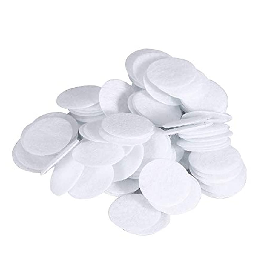 突然の埋める供給綿フィルターパッド にきび除去美容機用 100個 コットン 20mm