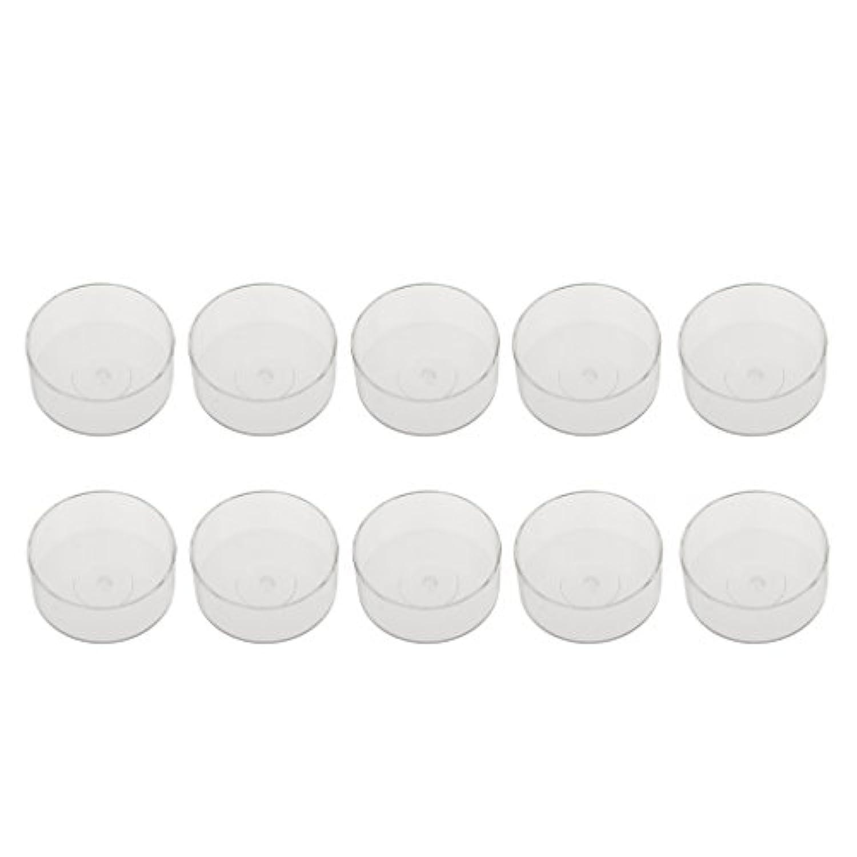 ノーブランド品  10個 カラフル ティー ライトカップ ワックス容器 キャンドル 金型 モールド 耐熱性 5タイプ選べる - 2