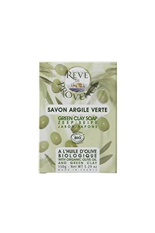 サラミ契約した樹皮レーヴ ド プロバンス オーガニックソープ [オリーブ&グリーンクレイ] 脂性肌用 150g
