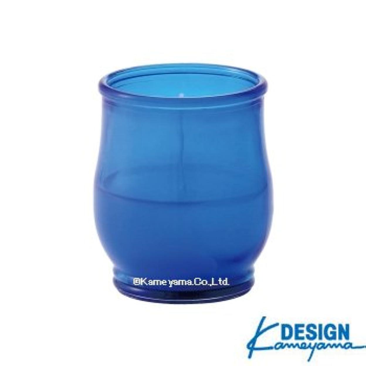 彫るアンソロジータービンカメヤマキャンドル グラスキャンドル ポシェ ex ブルー 6個セット