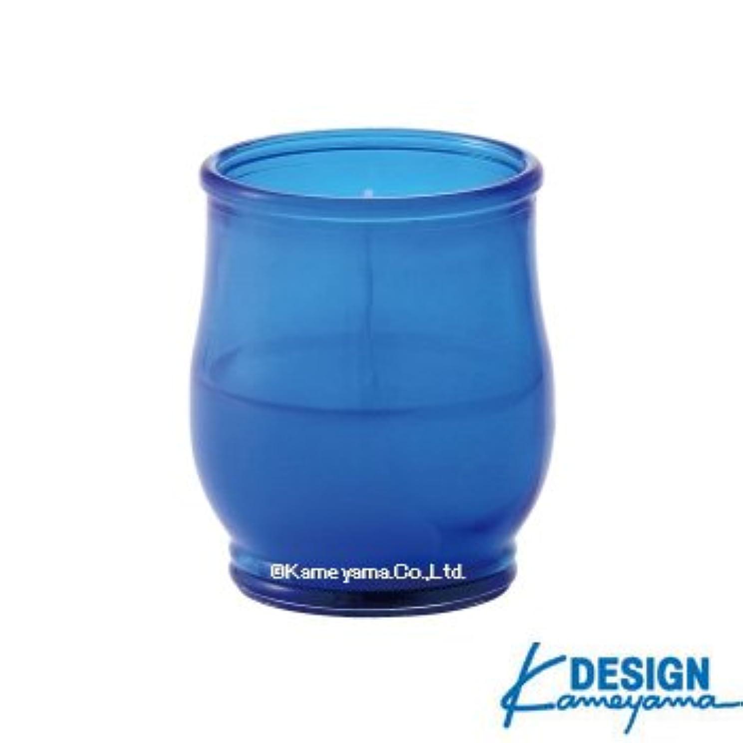 カメヤマキャンドル グラスキャンドル ポシェ ex ブルー 6個セット
