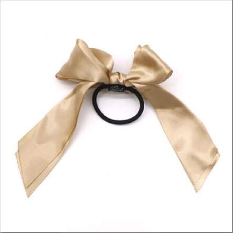 トーク類推怖がらせるフラワーヘアピンFlowerHairpin YHM 3PCS女性ラバーバンドティアラサテンリボンボウヘアバンドロープシュシュポニーテールホルダー(ピンク) (色 : Gold)