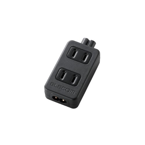 ELECOM 電源タップ ACアダプタ用 2pin 2個口 T-ACTAP22