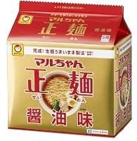 東洋水産 マルちゃん正麺 醤油味 1袋(5食入)×6個×3ケース