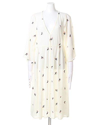 イング(INGNI) 総柄刺繍シフォンロング ガウン オフホワイト M