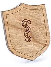Aesculapiusラペルピン、木製ピンとタイタック|素朴な、ミニマルGroomsmenギフト、ウェディングアクセサリー