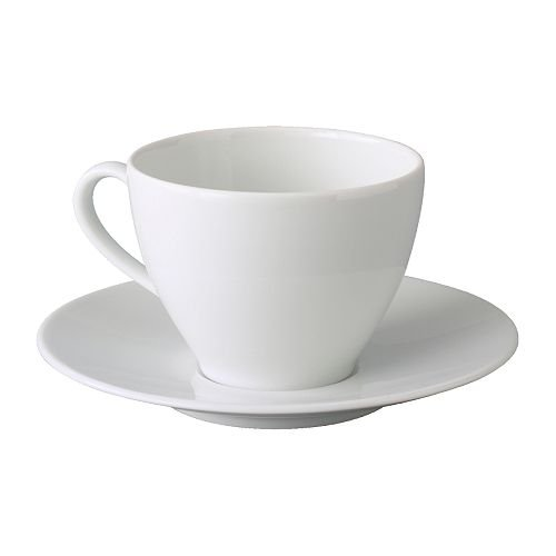 IKEA(イケア) IKEA 365+ 10192744 コーヒーカップ&ソーサー, ホワイト