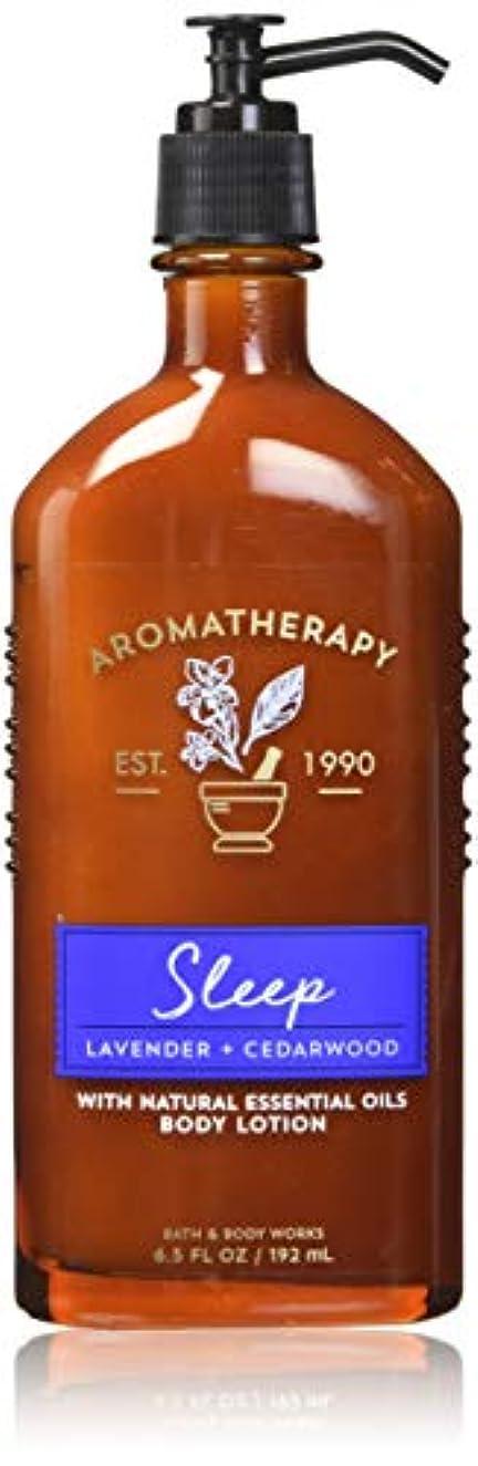 無駄科学的空港【Bath&Body Works/バス&ボディワークス】 ボディローション アロマセラピー スリープ ラベンダーシダーウッド Body Lotion Aromatherapy Sleep Lavender Cedarwood 6.5 fl oz / 192 mL [並行輸入品]