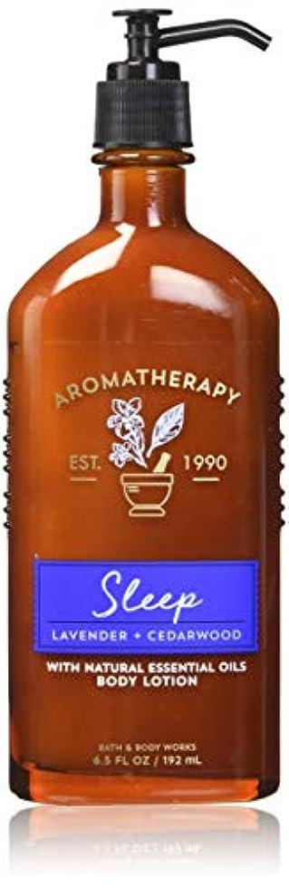 クライストチャーチかすれたインストラクター【Bath&Body Works/バス&ボディワークス】 ボディローション アロマセラピー スリープ ラベンダーシダーウッド Body Lotion Aromatherapy Sleep Lavender Cedarwood...