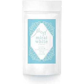 ミライ ホワイト ビタミン C 42,000mg 美白 サプリ L シスチン ROC コラーゲン 馬 プラセンタ ヒアルロン酸 配合 シミ そばかす 対策 飲む 日焼け止め 日本製 1日8粒 30日分
