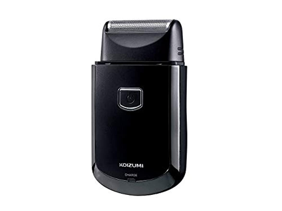 オーナメントのれん奨励しますコイズミ メンズシェーバー USB充電式 往復式 ブラック KMC-0700/K