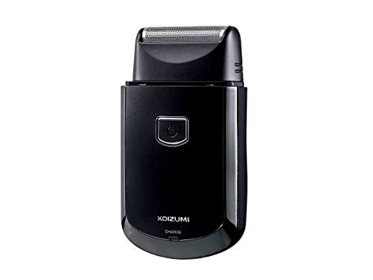 カストディアンライオン資格コイズミ メンズシェーバー USB充電式 往復式 ブラック KMC-0700/K