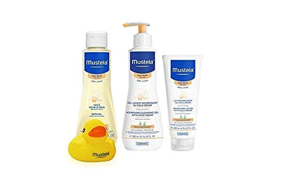 ペレット自然知り合いになる[Mustela] [Dry Skin Bathtime Set, Baby Skin Care Available for Normal, Dry, Sensitive, and Eczema Prone Skin]...
