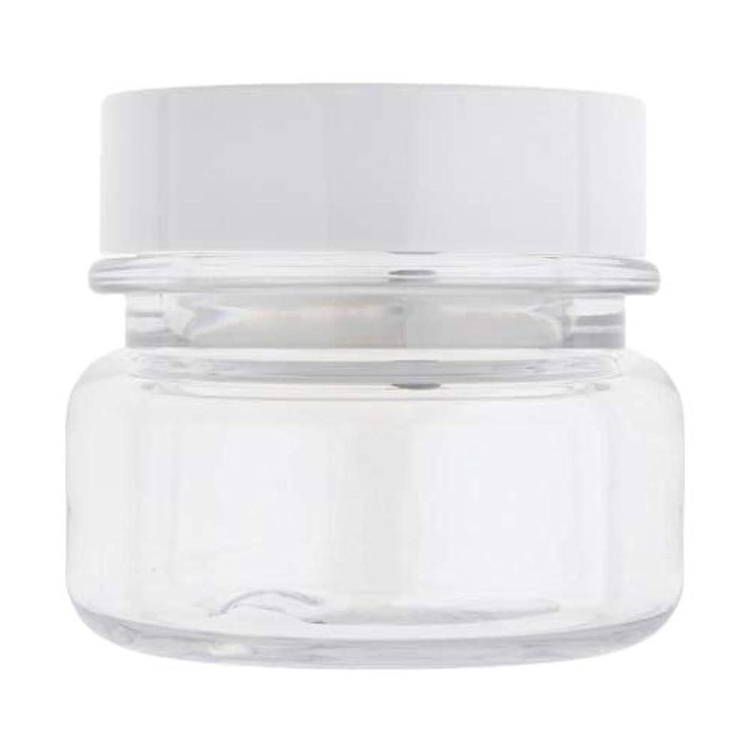 アジア人めったに弾性60G空の円形ペット構造の瓶詰め旅行クリームローション化粧品容器 - クリア+ホワイト