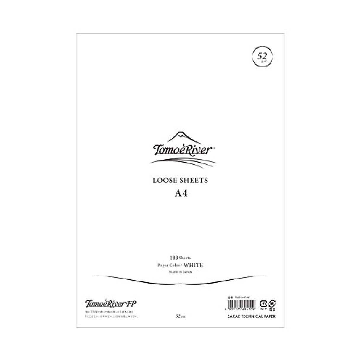 評決六悲劇SAKAEテクニカルペーパー ルーズシート トモエリバーFP A4 100枚 ホワイト TMR-A4P-W
