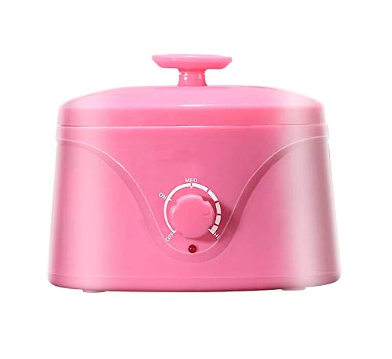 移行振幅手綱女性男性のためのホットワックスウォーマー脱毛ワックスがけStriplessプロフェッショナルサロンエレクトリックワックスヒーターポット (Color : ピンク)