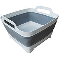 水切りラック 水切りかご 洗い桶 多機能 大容量 たためるバケツ キャンプ モノトーン 排水栓付き シリコン