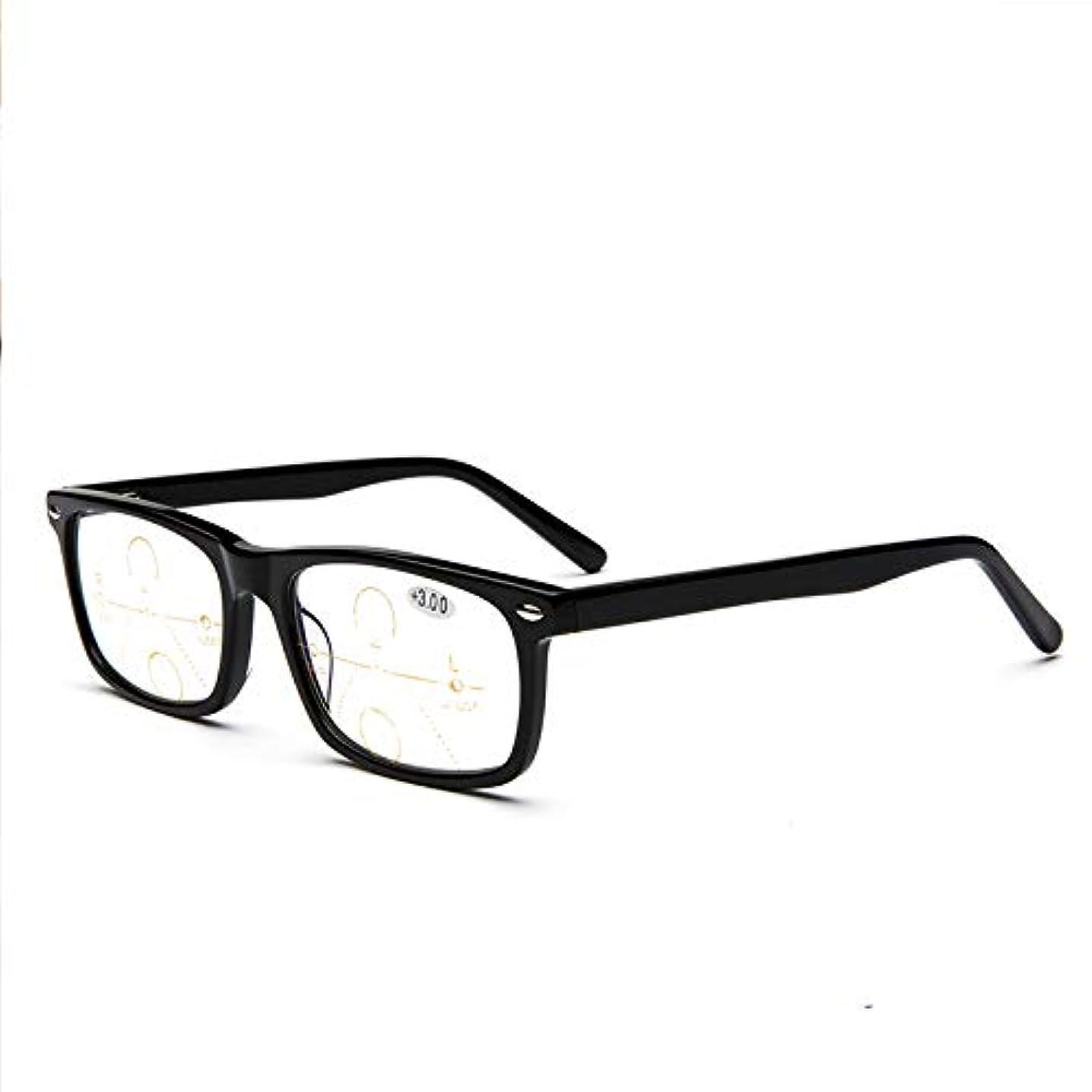 露骨な眉をひそめる純粋なオートズーム老眼鏡、処方箋なしの光学アイウェア、遠近両用のHDサンリーダー、アウトドアカラーチェンジ、男性および女性用