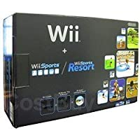 Nintendo Wii Console Black with Wii Sports and Wii Sports Resort by Nintendo [並行輸入品]