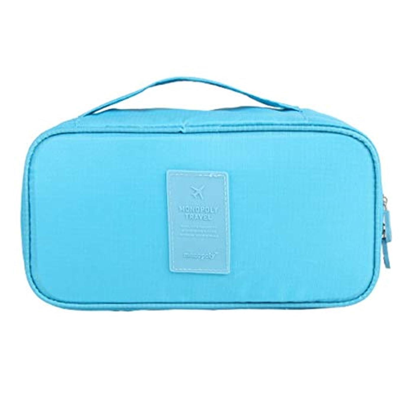 筋ショッキング中央値化粧オーガナイザーバッグ 旅行用品旅行用シェービングヘアバッグ 化粧品ケース (色 : 青)
