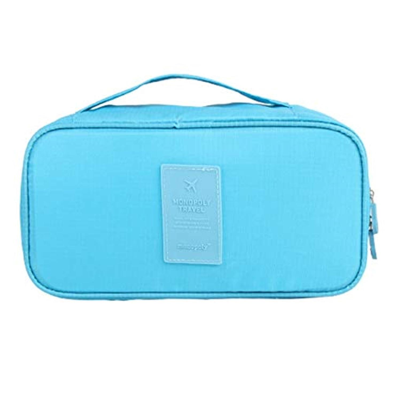空気ホーム正直化粧オーガナイザーバッグ 旅行用品旅行用シェービングヘアバッグ 化粧品ケース (色 : 青)