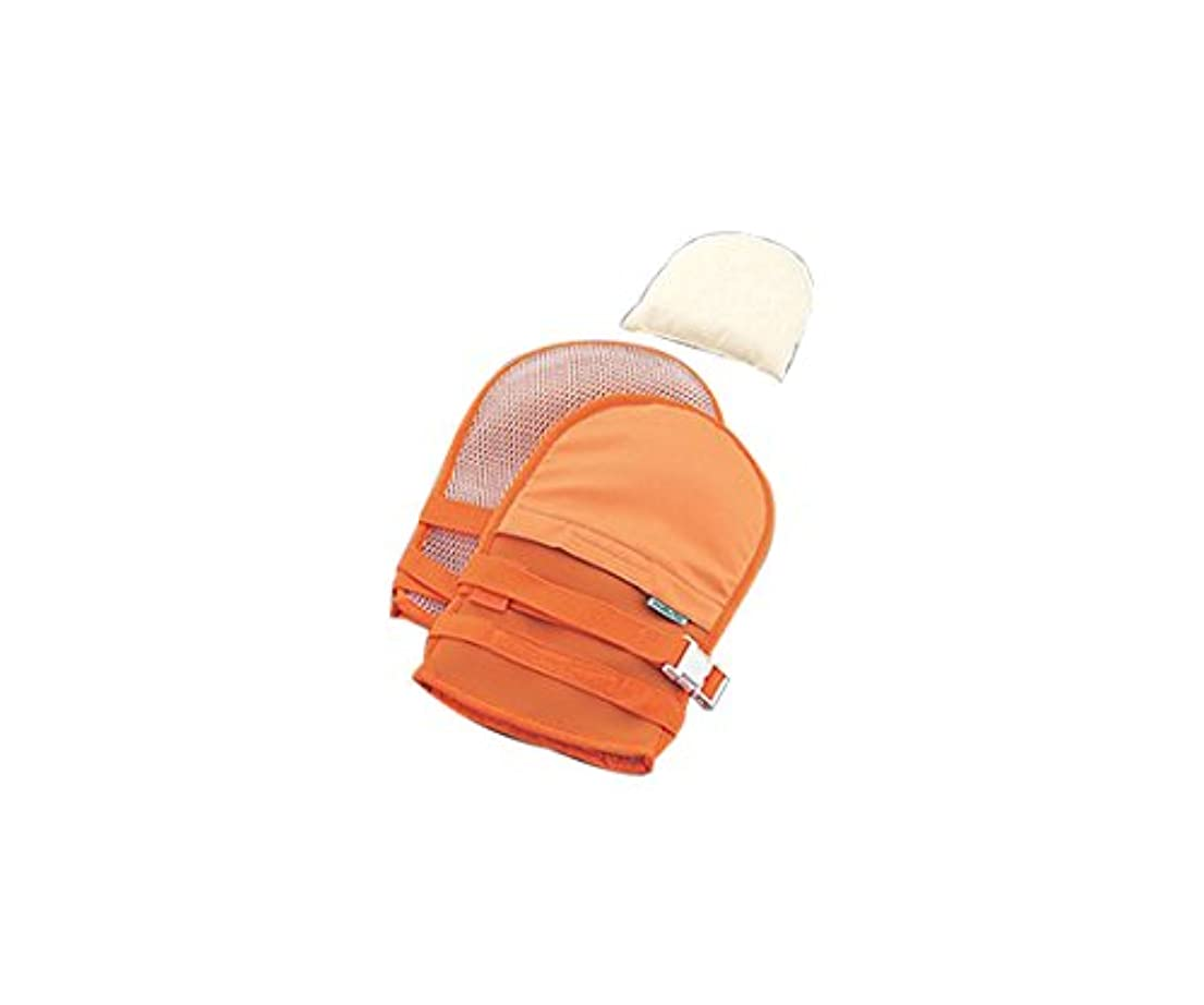 かんたん同行省ナビス(アズワン)0-1638-43抜管防止手袋小メッシュオレンジ