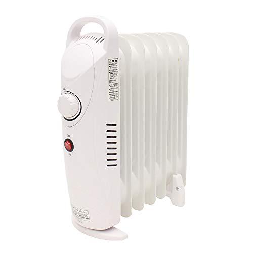iimono117 ミニ オイルヒーター 7枚フィン 700w / 持ち手 安全装置 付き キッチン トイレ 脱衣所 持ち運び
