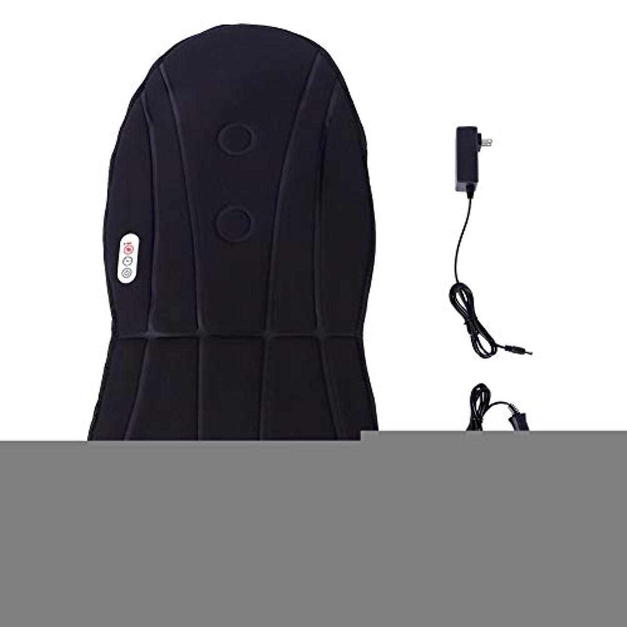 バックマッサージと首の振動のための暖房マッサージ付きマッサージ車のクッション振動クッション3ホームオフィスで調整可能な速度(US)