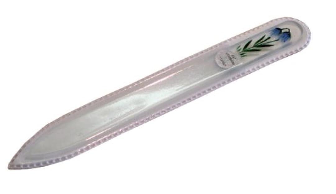 霧深い死んでいるセレナブラジェク ガラス爪やすり 140mm 片面タイプハンドペイント#174