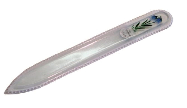 レクリエーションアピールラバブラジェク ガラス爪やすり 140mm 片面タイプハンドペイント#174
