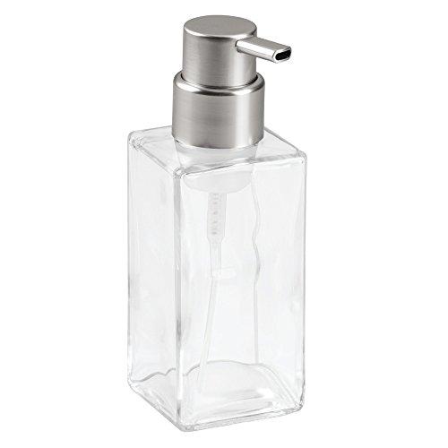 InterDesign 泡 ソープ ポンプ ディスペンサー ボトル ガラス製 Casilla クリア マット 70565EJ