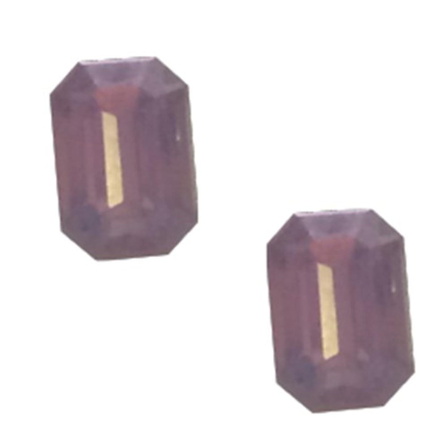 コーン消すPOSH ART ネイルパーツ長方形型 4*6mm 10P ピンクオパール