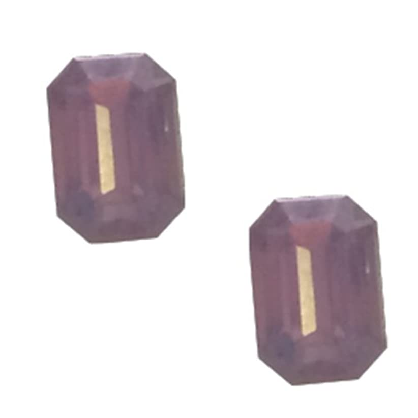 悲鳴行商ペインティングPOSH ART ネイルパーツ長方形型 4*6mm 10P ピンクオパール