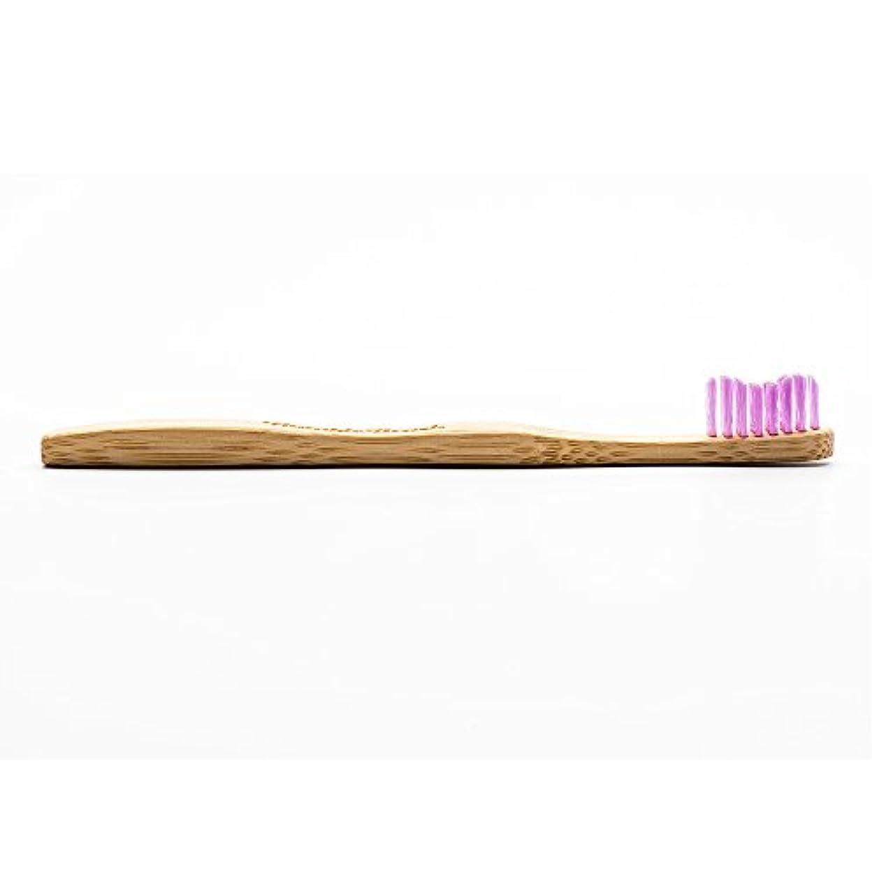 見物人到着繊維HUMBLE BRUSH(ハンブルブラッシュ) 歯ブラシ キッズ パープル