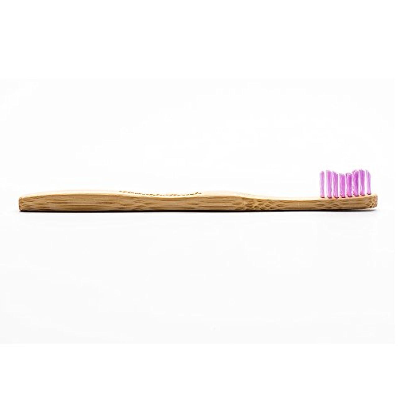 危険にさらされているモンキーコンクリートHUMBLE BRUSH(ハンブルブラッシュ) 歯ブラシ キッズ パープル