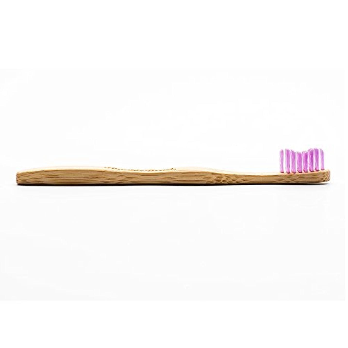 明るいランドリージャンピングジャックHUMBLE BRUSH(ハンブルブラッシュ) 歯ブラシ キッズ パープル